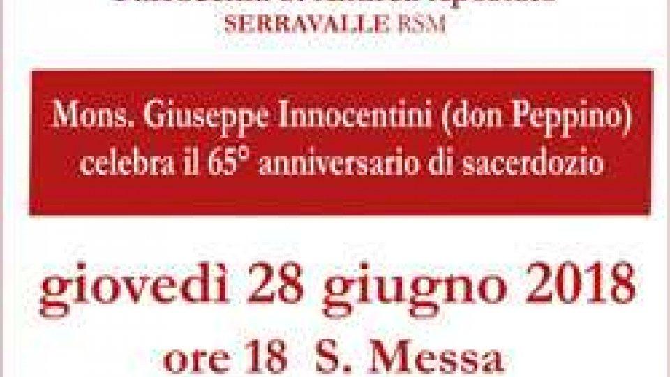 Parrocchia di S. Andrea Ap.: 65° di sacerdozio - Mons. Giuseppe Innocentini (Don Peppino)