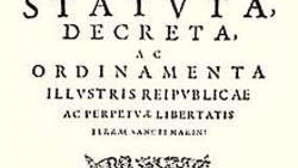 8 ottobre 1600: San Marino si dota della sua nuova Costituzione