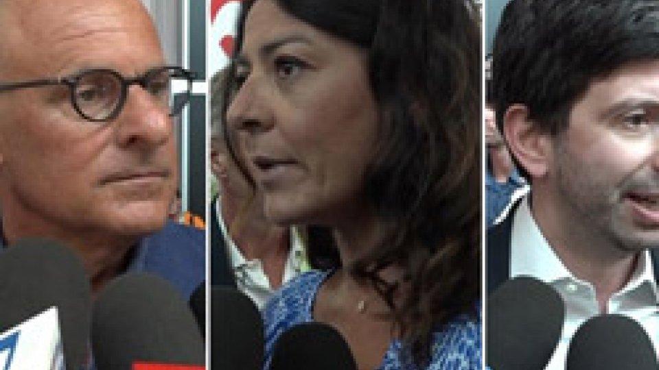"""Fabio Rampelli, Barbara Saltamartini e Roberto SperanzaNave Diciotti, Saltamartini (Lega): """"Salvini ha svegliato l'Europa"""""""