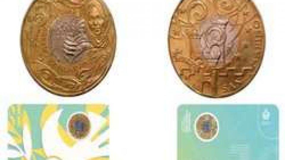 moneta bimetallica da 5 euro