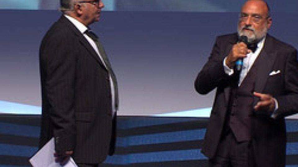Giancarlo Dotto con il Dg di San Marino RTV Carlo RomeoGalà RTV: il nuovo palinsesto e la chiave di ciò che vuole essere la Tv di Stato