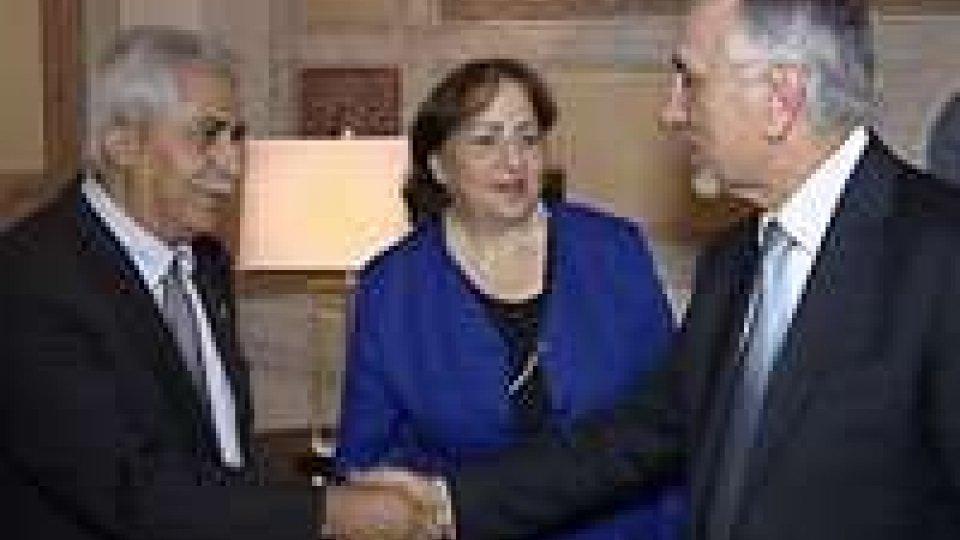 Il Segretario Valentini a Palazzo Begni con l'ambasciatore di Palestina in Italia Mai Alkaila