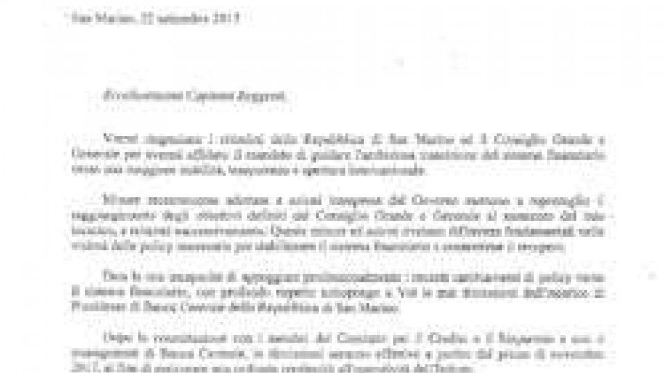 Grais: il testo integrale della lettera di dimissioni