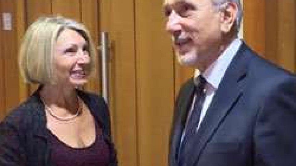 L'Ambasciatore Barbara Bregato e il Segretario Pasquale Valentini