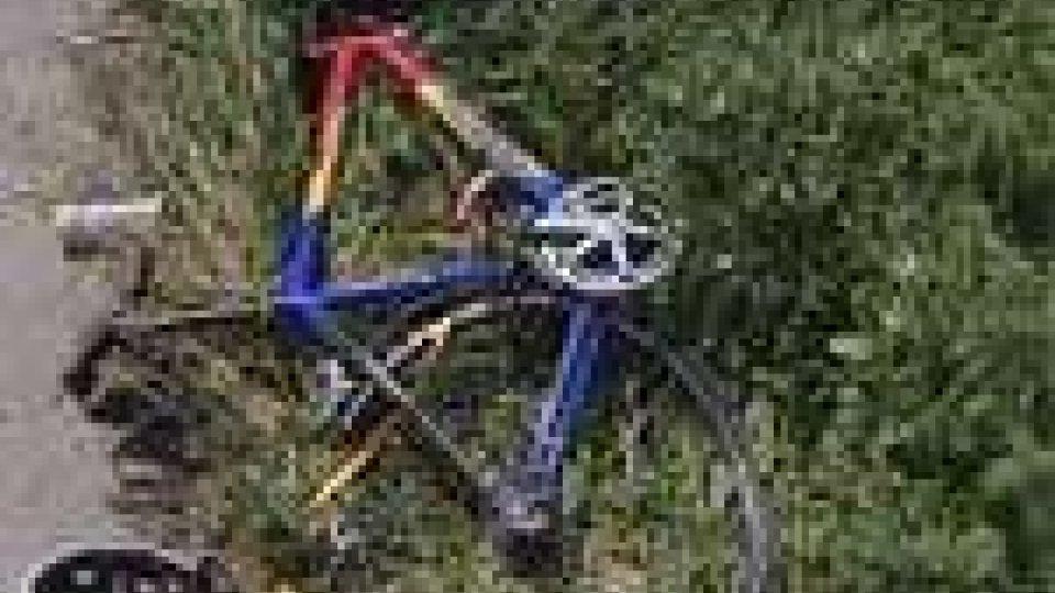 La bici del ciclista investito
