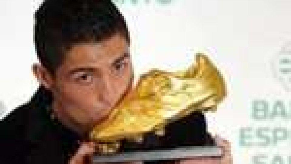 A Cristiano Ronaldo la Scarpa d'Oro 2010-2011
