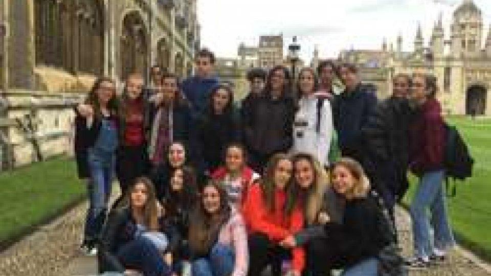 Anno scolastico inaugurato con soggiorno studio in Inghilterra per 21 studenti del San Pellegrino