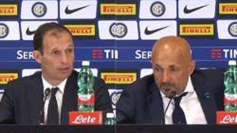Allegri - SpallettiInter-Juventus 2-3, le interviste