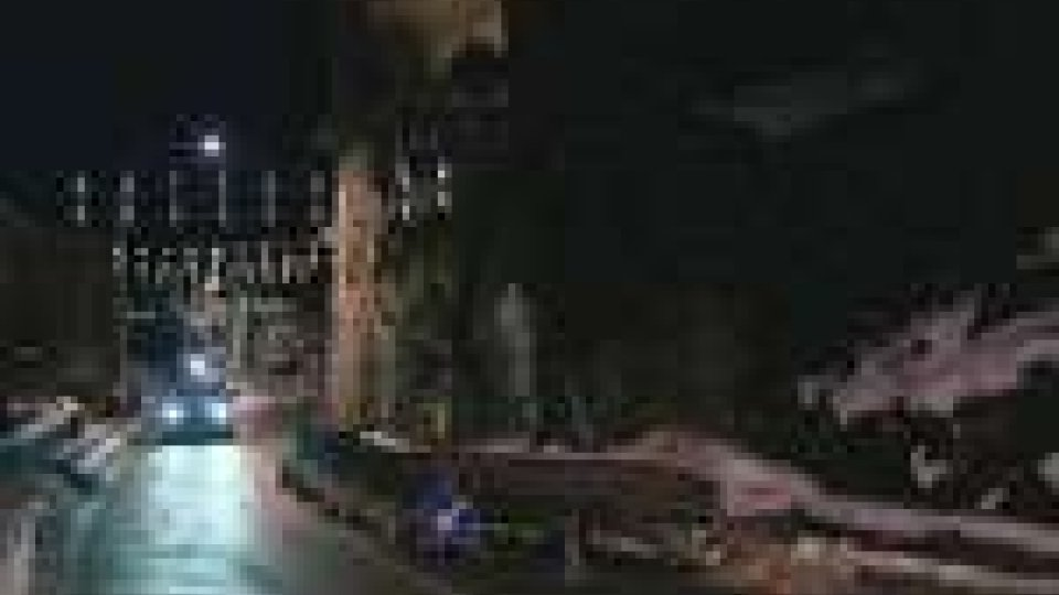 San Marino - Crolla un muro di contenimento in via Piana: viabilità rallentata