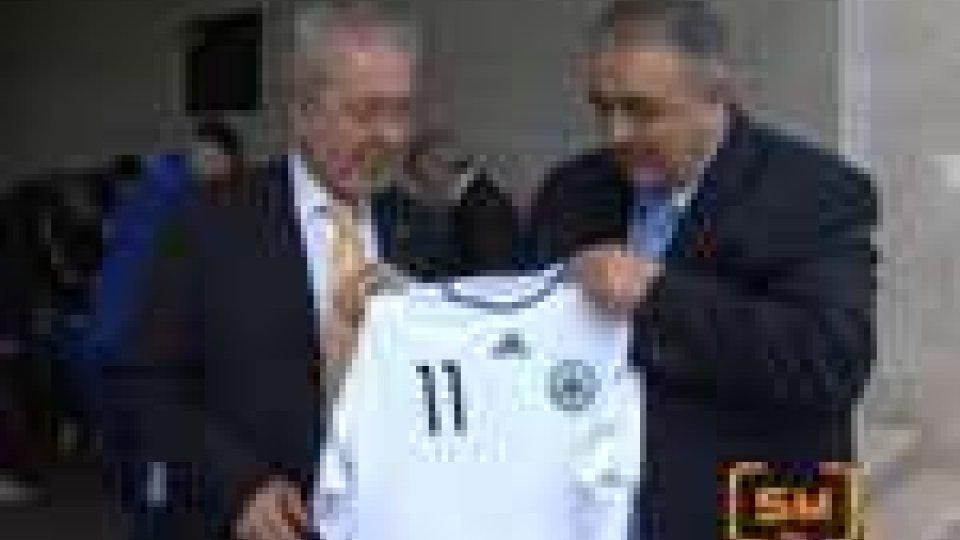 San Marino - Under 20 Italia in visita Federcalcio SammarineseUnder 20 Italiana in visita alla Federcalcio Rsm