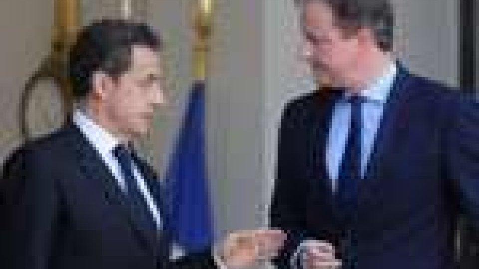 Incontro Cameron-Sarkozy per la costruzione di nuove centrali nucleari