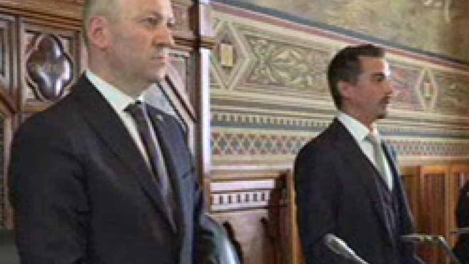 I Capitani Reggenti Stefano Palmieri e Matteo Ciacci