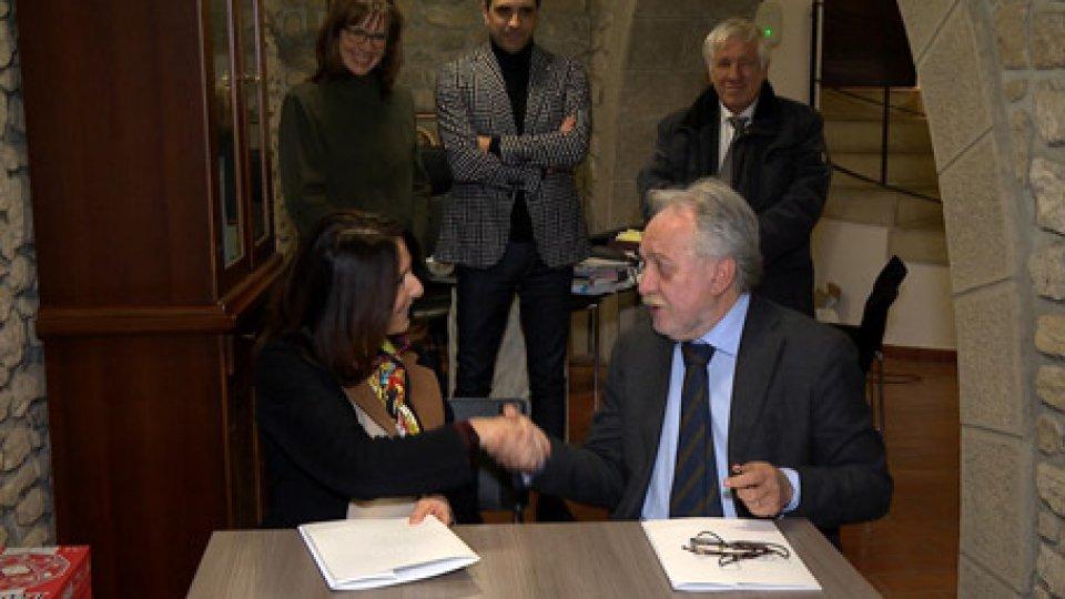 Monica Bollini Corrado PetrocelliInnovazione e formazione: accordo quadro fra Università di San Marino e OSLA