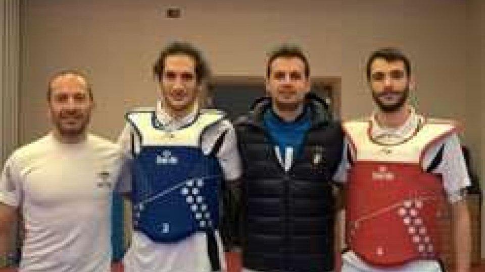 Taekwondo: Bernardi, Borgagni e Ceccaroni con l'olimpionico Molfetta.