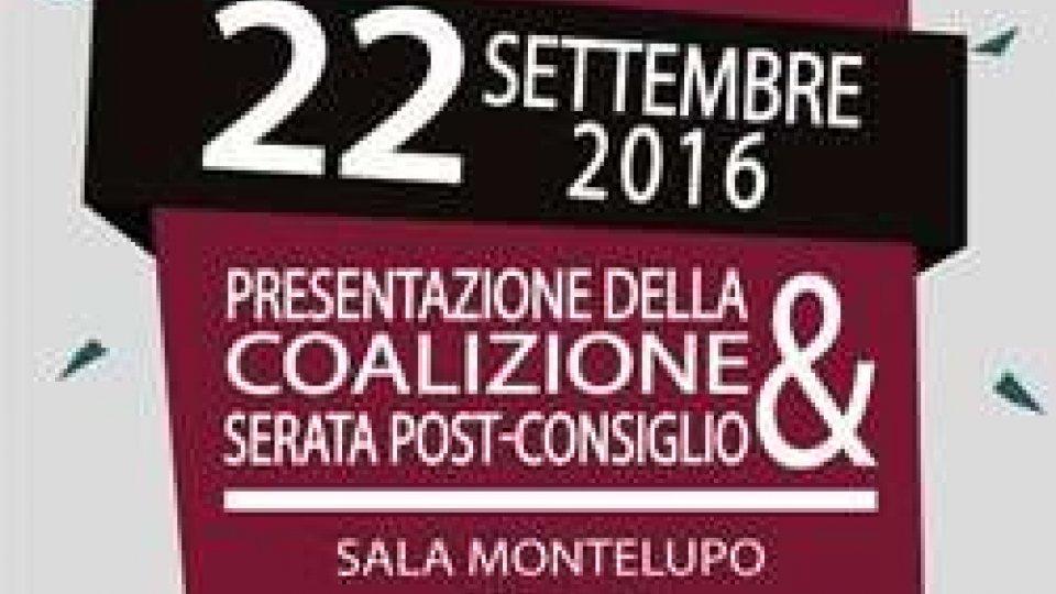 Presentazione coalizione RETE e MDSI a Domagnano