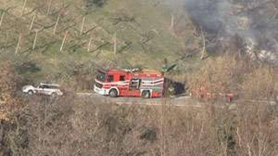 San Marino - Scoppiato un incendio in zona Maiano