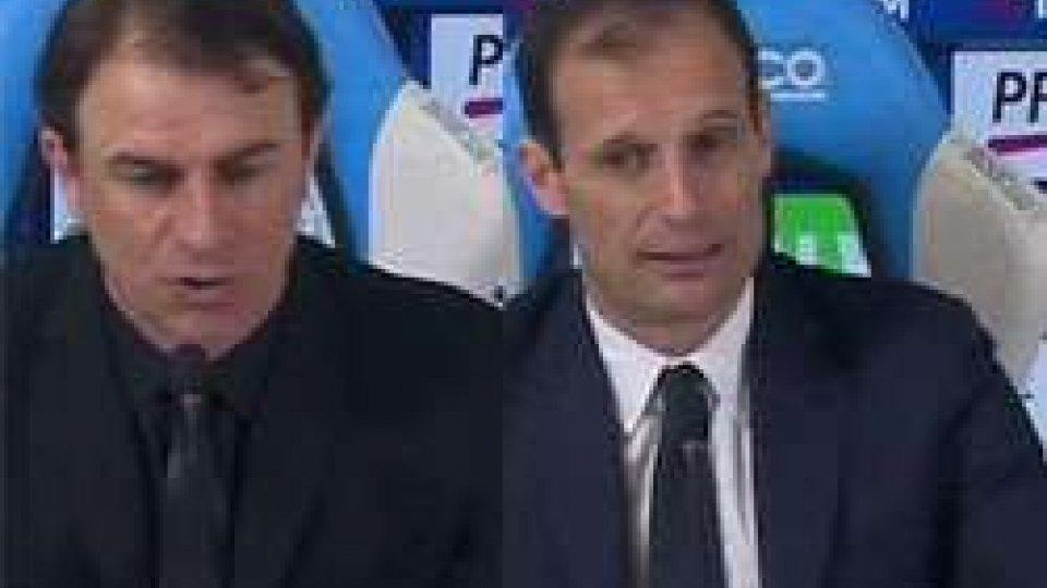 Semplici- AllegriSpal - Juventus 0-0, gli allenatori in conferenza stampa