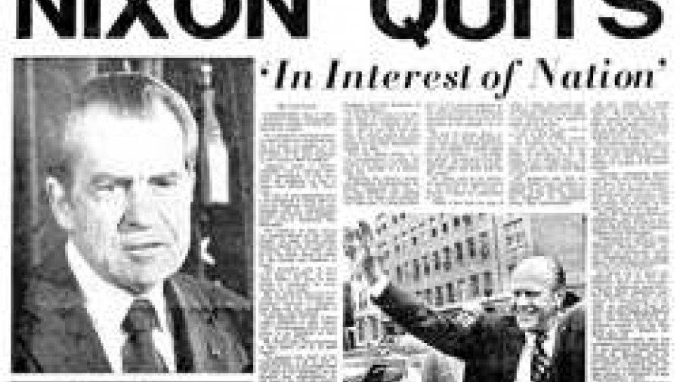 Le dimissioni del Presidente USA Richard Nixon