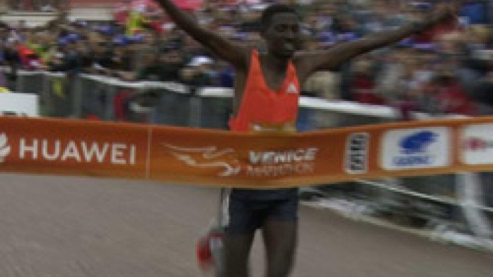 Mekuant Ayenew GebreVenezia, Gebre vince una maratona condizionata dal maltempo
