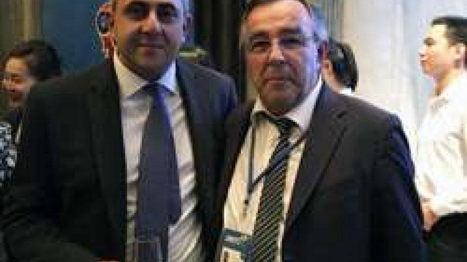 Il Segretario Michelotti con il georgiano Zurab Pololikashvili