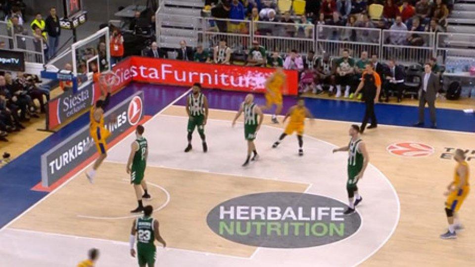 Panathinaikos - Gran CanariaEurolega, successi di Panathinaikos, Maccabi, Fenerbahce e Baskonia