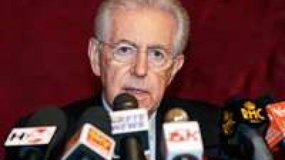 """Monti: """"Falle chiuse con sacrificio e aiuto degli italiani"""""""