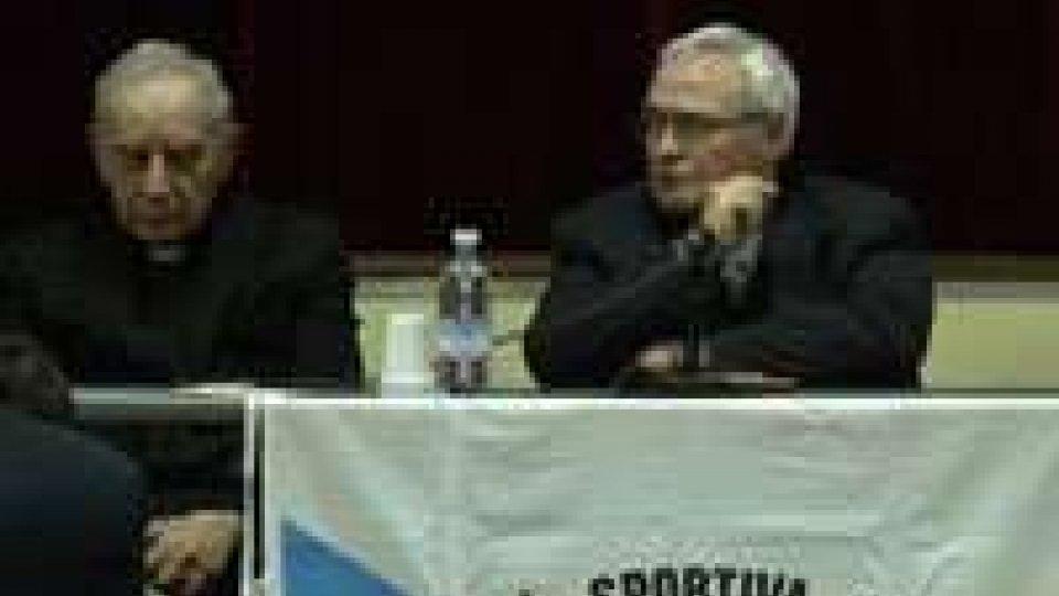 San Marino - La società sportiva Juvenes ha ospitato Monsignor Luigi Negri