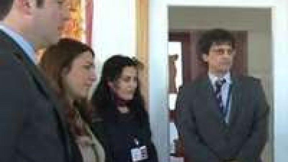 La Reggenza e il segretario Mussoni in visita all'atelier e al Colore del Grano