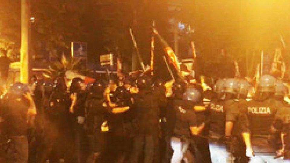 Gli scontri a Rimini