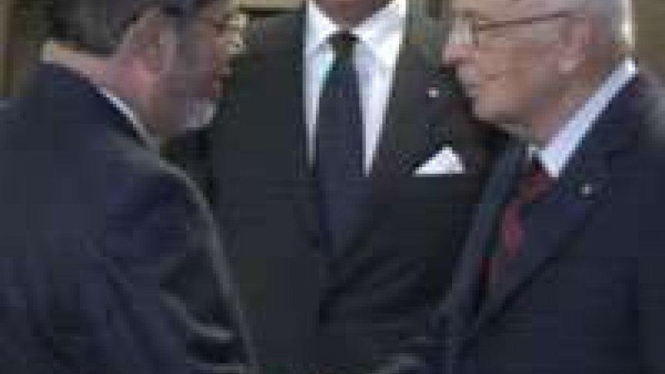 Il presidente egiziano Morsi ha incontrato Napolitano