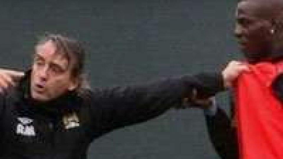 """Mancini-Balotelli, il tecnico: """"Non è successo nulla di grave""""Mancini: """"Niente di grave"""""""