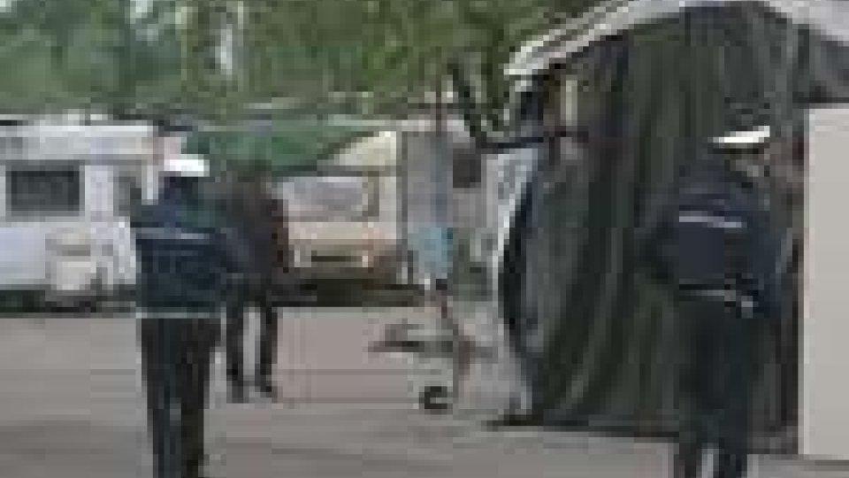 Campi nomadi di Rimini e Torre Pedrera controllati dalle forze dell'ordine