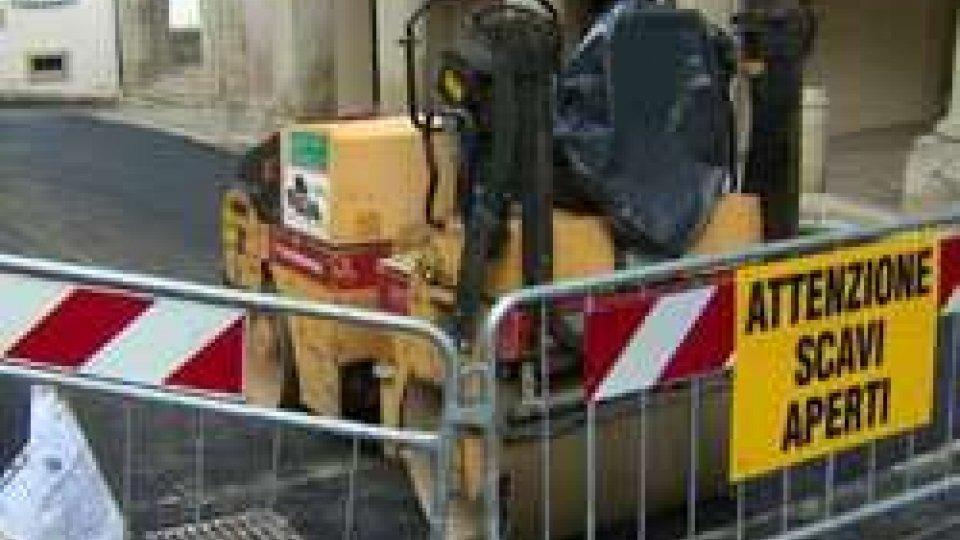 Lavori sospesi a Borgo per le festività natalizieLavori sospesi a Borgo per le festività natalizie