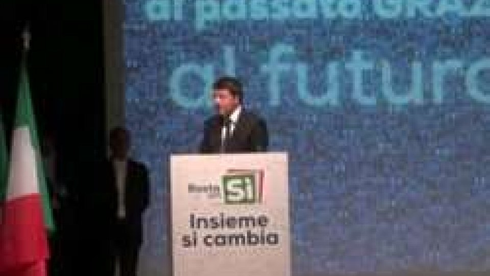 Renzi: a Rimini per il fonte del sì al referedumRenzi: a Rimini per il fonte del sì al referedum