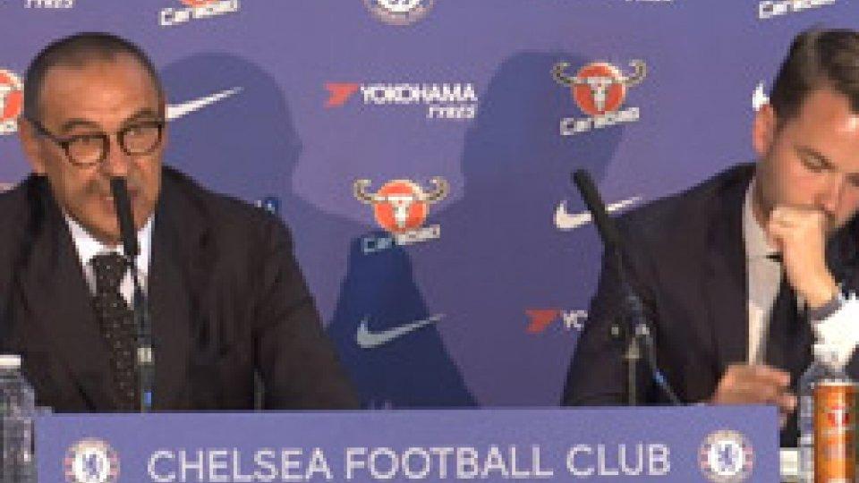 """la conferenza stampaChelsea, Sarri: """"La Premiere League è il miglior campionato al mondo. Sfida difficile ma affascinante"""""""