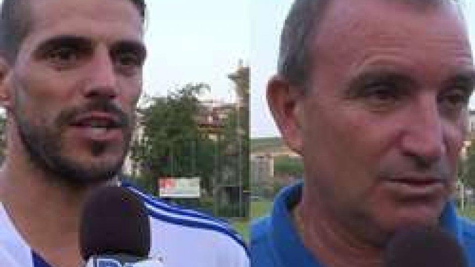 Rinaldi - AngeliniSan Marino-Santarcangelo 1-1: Rinaldi soddisfatto, Angelini... pure