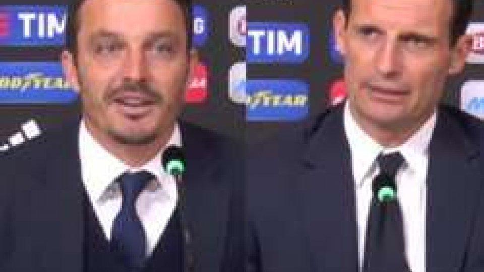 Massimo Oddo e Massimiliano AllegriJuventus - Pescara 3-0, i commenti di Oddo e Allegri