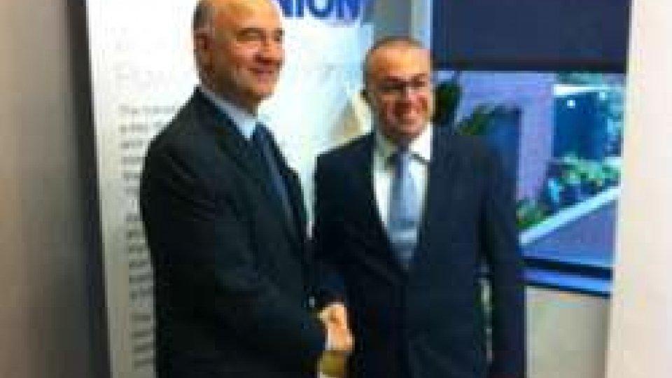 Pierre Moscovici e Simone Celli
