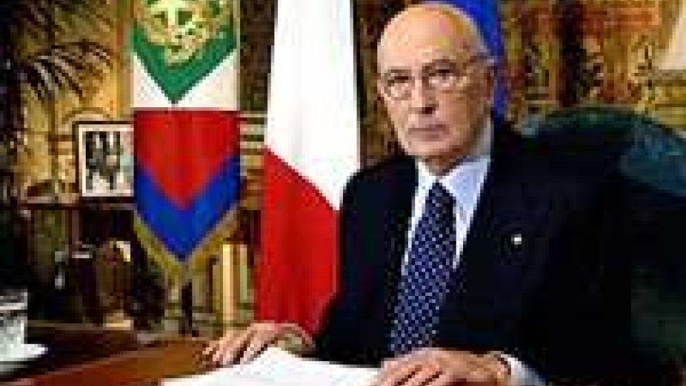 """Napolitano: """"Rilanciare processo di pace in Medio Oriente"""""""