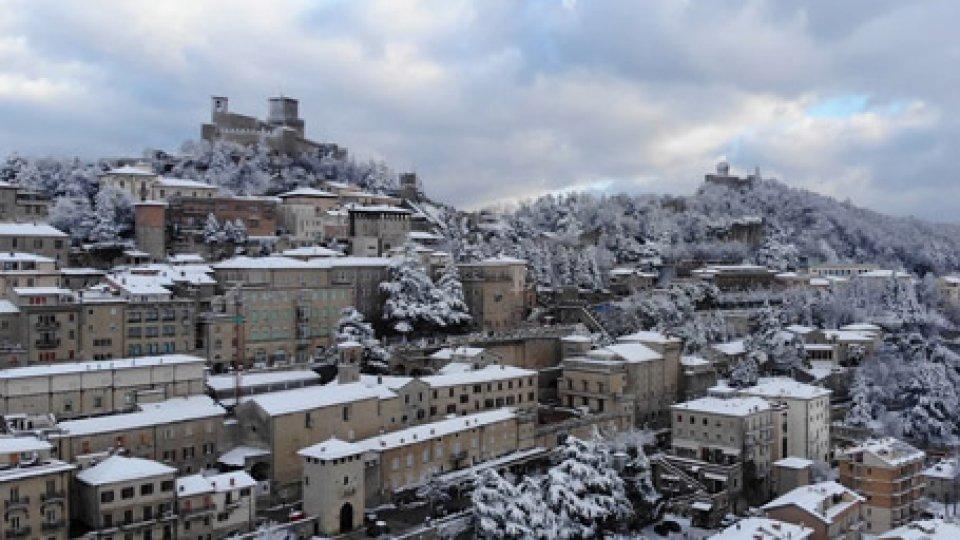 San Marino sotto la neve
