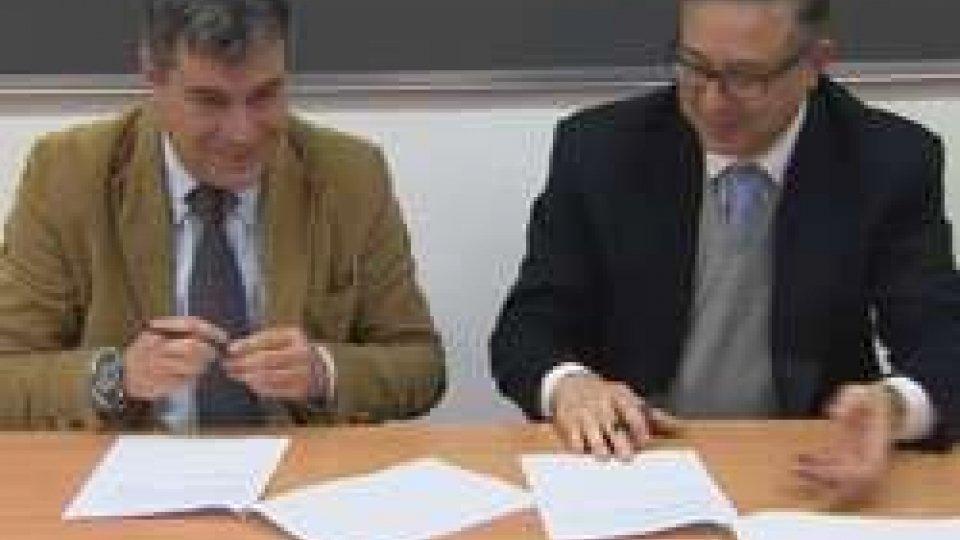 Angelo Marcello Tarantino ed il sindaco di Fano, Massimo Seri.Il corso in Ingegneria Civile programmerà la manutenzione delle strade di Fano