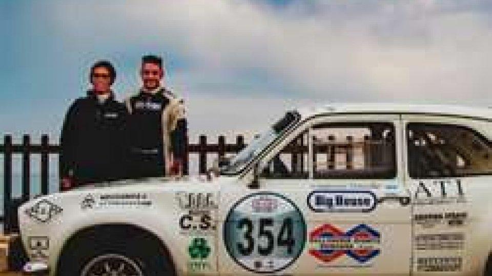 Davide Cesarini in gara domenica sul circuito Rally dei Campioni San Marino