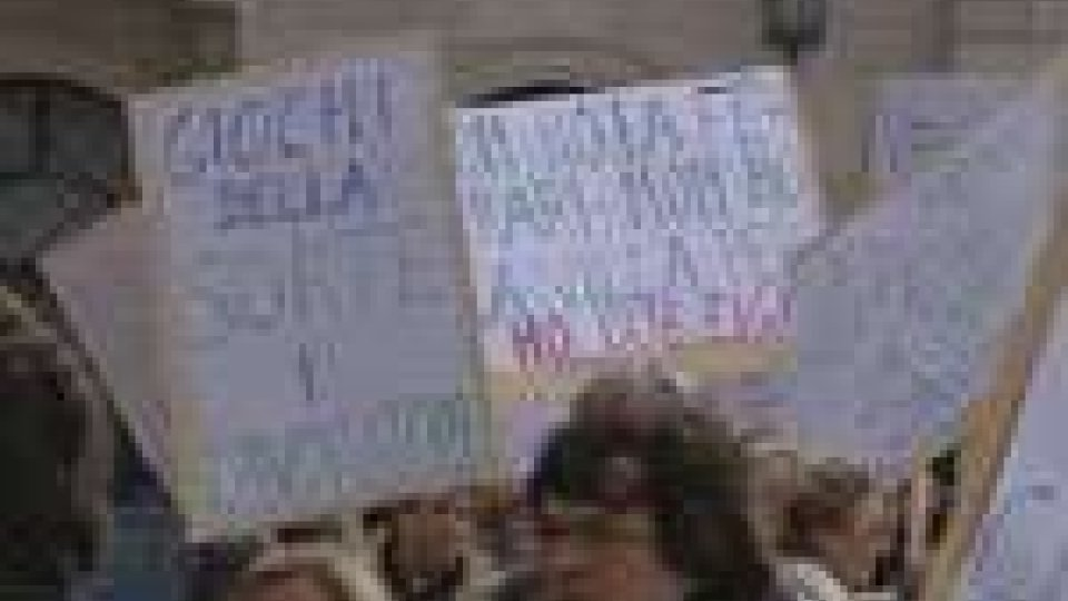 La manifestazione sul Pianello