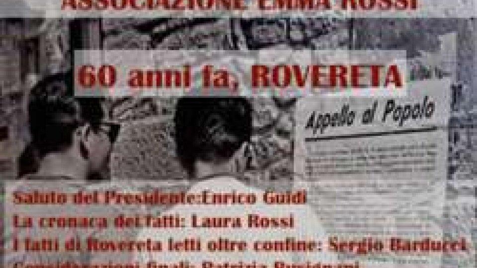 Incontro pubblico su Rovereta il 5 ottobre organizzato dall'Associazione Emma Rossi