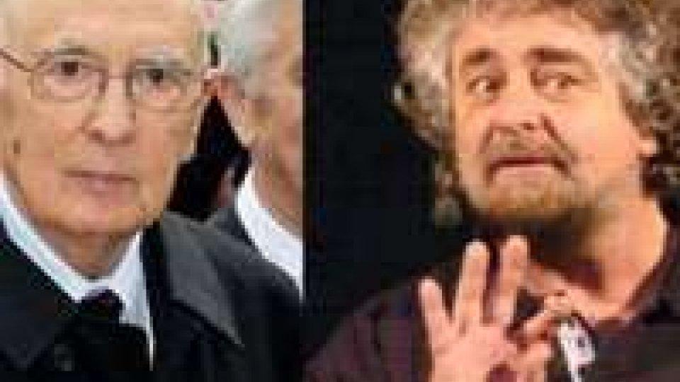 Politica italiana. Botta e risposta tra Grillo e Napolitano