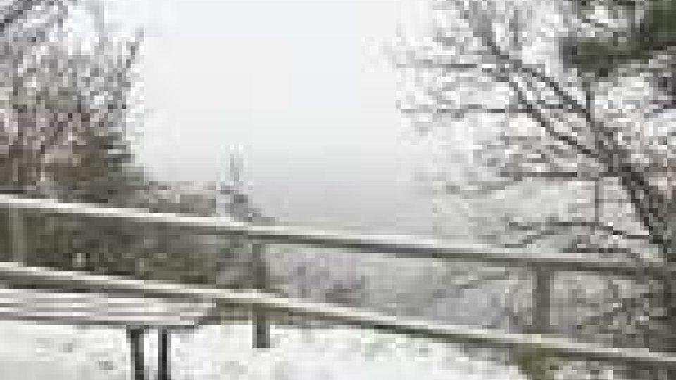 Maltempo, nevica a San Marino