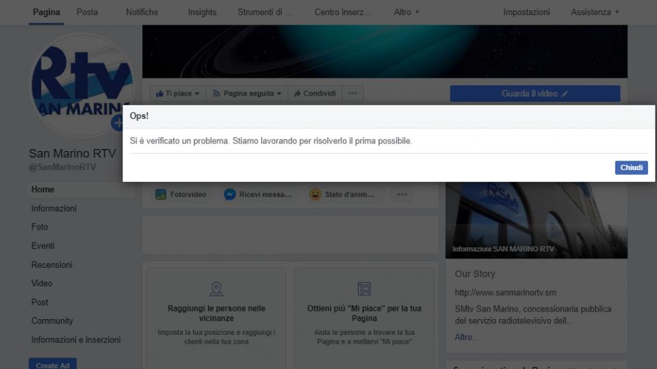 Facebook: problemi negli aggiornamenti delle pagine