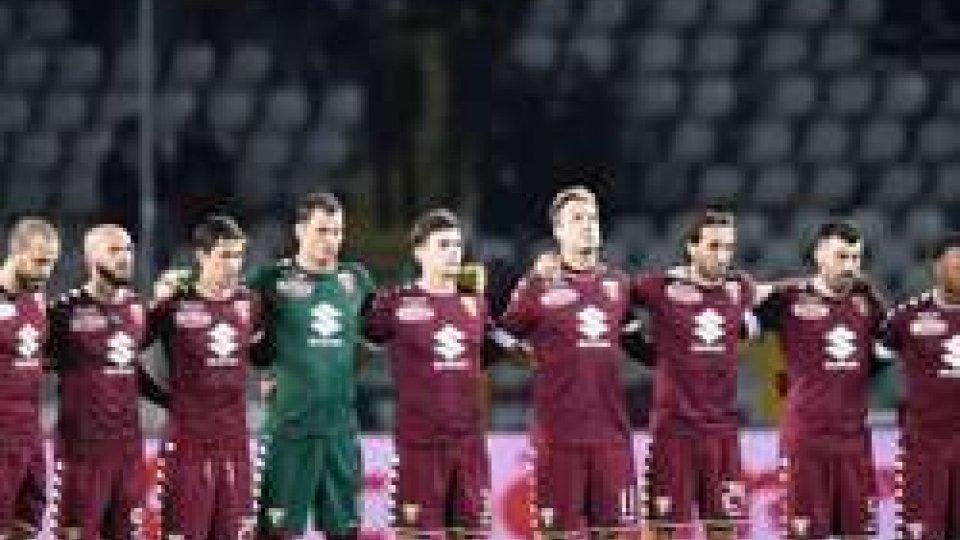 Minuto di silenzio del Torino (ph sky sport)Coppa Italia: il Torino passa agli ottavi