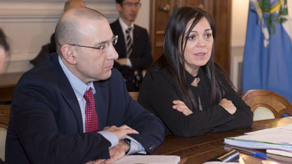 Nir Klein e Eva GuidiTermina la visita del Fondo Monetario: intervista a Eva Guidi