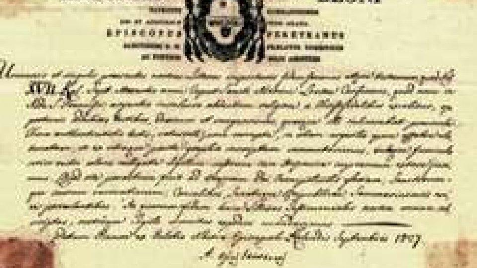 Pergamena di Antonio Begni vescovo del Montefeltro